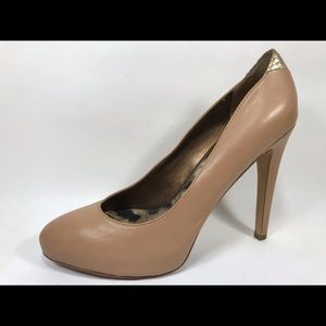 Sam Edelman Yasmine Nude Leather Pumps 7.5M